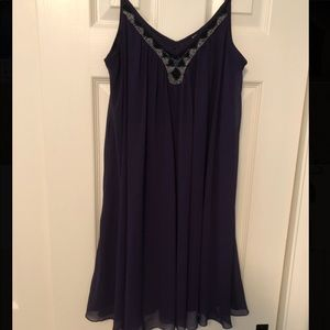 Express Plum Flowy dress
